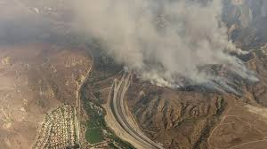 Wildfire Anaheim by Canyon Fire Burning In Corona Is 5 Percent Contained At About