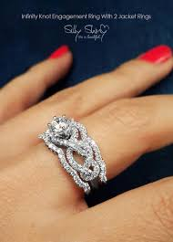 unique wedding ring sets infinity engagement rings infinity knot engagement ring with 2