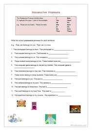 71 free esl possessive pronouns worksheets