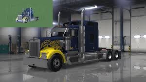 kenworth bus kenworth w900 hard truck 18 wheels of steel skin american truck