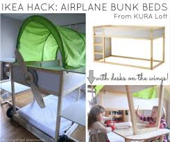 Ikea Bed Canopy by Ikea Bed Hack Kura Loft Turned Into An Airplane Bunk Bed