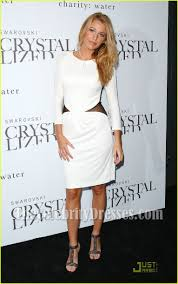 blake lively white long sleeve backless cocktail party