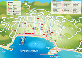 Map Of City Of Los Angeles by Map Of Avalon Catalina Island