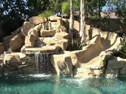 Backyard Pool With Slide Swimming Pools With Waterfalls And Slide Interior Design