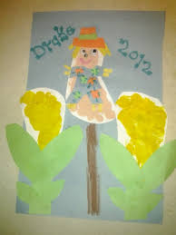fall baby footprint scarecrow corn infant ideas