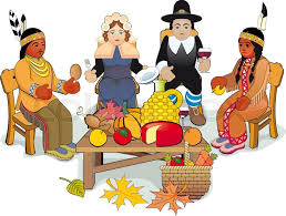 illustration thanksgiving day pilgrims and american