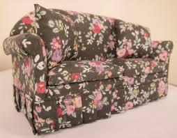 Floral Print Sofas Furniture Sofa Black Floral Print Sofa Miniature Sofa