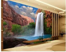 Bedroom Water Feature 3d Wallpaper European Minimalist Bedroom Living Room Tv Backdrop