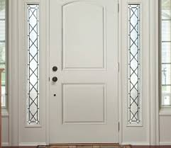 pella 2 panel arch entry door solid panel pella