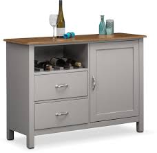 buffet sideboard cabinets value city furniture nantucket sideboard oak and gray