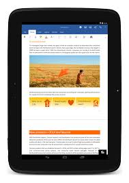 android tablets microsoft office for android tablets now available