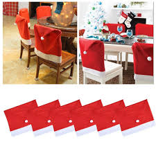 christmas chair covers 10pcs christmas chair covers santa hat cap dinner table decor