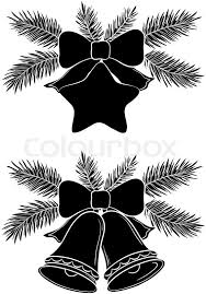 Decoration Of Christmas Bell by Christmas Decorations Bells And Star With Bows And Fir Branches
