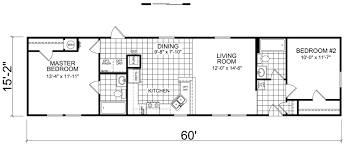 Floor Plans For Mobile Homes Single Wide Wendell 16 X 60 910 Sqft Mobile Home Factory Expo Home Centers