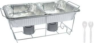 how to set a buffet table with chafing dishes chafing dish buffet set 8pc party city