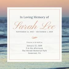 funeral invitation sle funeral invitations mes specialist