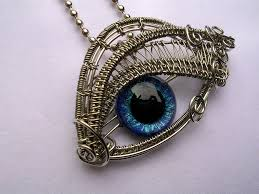 silver eye necklace images Glow blue cerulean silver eye pendant 2 by ladypirotessa on jpg
