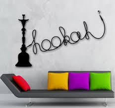 Eiffel Tower Wall Decals Wall Decal Hookah Shisha Cafe Relax Arabic Culture Sticker Vinyl