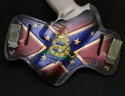 Confederate Flag Guitar Strap Rebel Heritage Confederate Flag Savoy Leather
