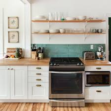 where to put glasses in kitchen without cabinets 11 tips to make open shelving work in real kitchn