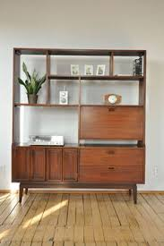 Oak Room Divider Shelves Mid Century Wall Unit Free Standing Oak Room Divider There