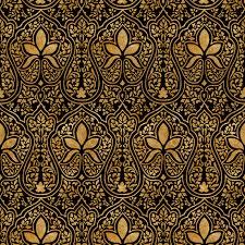 rajkumari black and gilt gold batik fabric