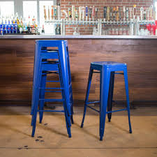 blue bar stools kitchen furniture stool furniture custom backless bar stool design for your