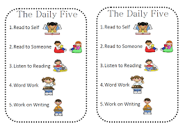 the daily five printables daily 5 cafe printable posters iheartliteracy friday freebie