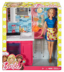 Dollhouse Furniture Kitchen Barbie Doll And Furniture Kitchen Playset Toys
