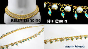 hip necklace chain images Making of a belly dancing hip chain diy waist chain knotty jpg