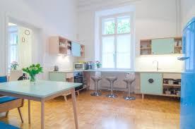 Retro Modern Kitchen 5 Bedroom Ljubljana Apartment On The Edge Of Old Town