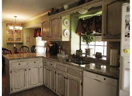 distressed white kitchen cabinets chalk paint beauty distressed