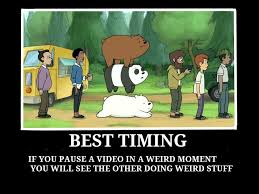 Bear Stuff Meme - best timing we bare bears meme by blueangelpower2003 on deviantart