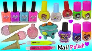 nail polish bonanza 2 monster high ice cream cone minions pink