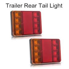 trailer tail lights for sale sale 2 pieces waterproof 8 led taillights red yellow rear tail