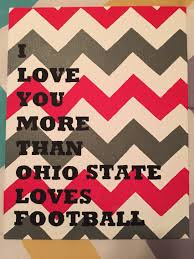 i love you more than ohio state loves football canvas painting
