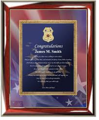 academy graduation gifts enforcement academy graduation sheriff gift plaque
