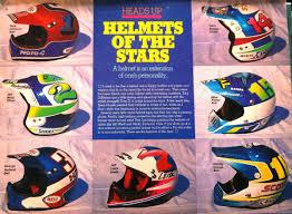vintage motocross helmets 80 u0027s u0026 90 u0027s custom painted helmets of the stars moto related