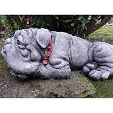 bulldog garden ornament onefold uk