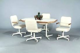 dinette table and chairs with casters dining sets with caster chairs dinette sets with rolling chairs