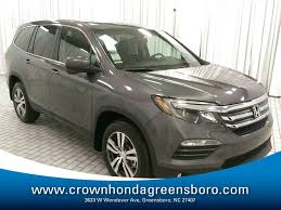 grey honda pilot new 2018 honda pilot ex l for sale in greensboro nc