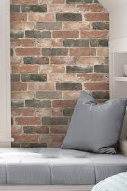 Stick And Peel Wallpaper by Brewster Home Fashions Newport Brick Reusable Peel U0026 Stick Vinyl