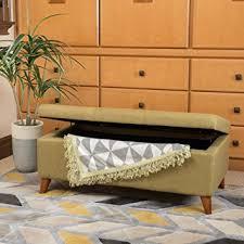 amazon com etoney mid century modern fabric storage ottoman
