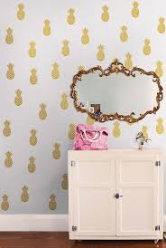 99 best pretty wallpaper images on pinterest room wallpaper and this gold foil pineapple wall decal set by wallpops