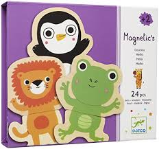 cuisine bois djeco amazon com djeco wooden magnet play set hello animals 24 pc