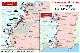 Map Ukraine Map Of U0027contact Line U0027 Separating Ukraine From The Donetsk People U0027s