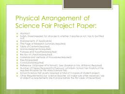cover page of science project welcome to another great science fair information session