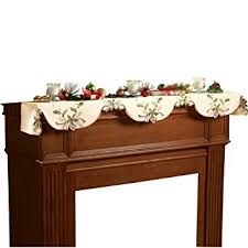 berry table linens mantel scarf