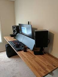 Gaming Desk Setup Ideas Best 25 Desk Setup Ideas On Pinterest Office Desk Accessories