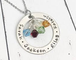 birthstone mothers necklace mothers necklace etsy